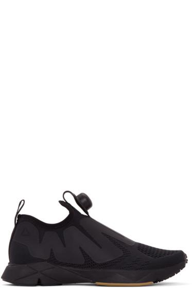 Reebok Classics - Black Pump Supreme Engine Slip-On Sneakers