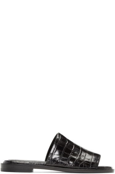 Ellery - Black Funplex Slide Sandals