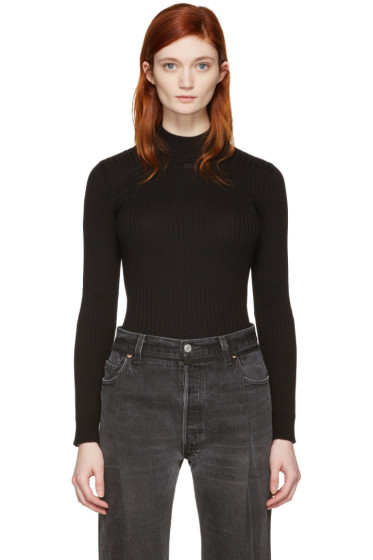 Courrèges - Black Classic High Neck Pullover