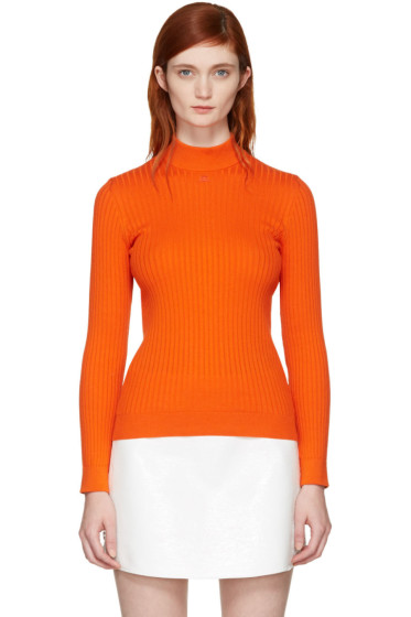 Courrèges - Orange Classic Ribbed Turtleneck