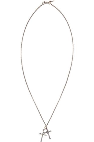 Emanuele Bicocchi - Silver Double Cross Necklace