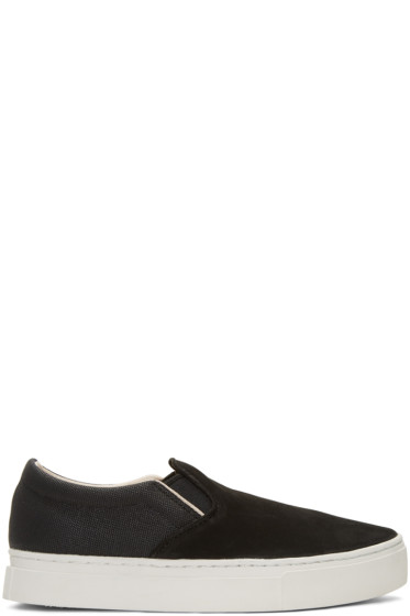 Saturdays NYC - Black Vass Slip-On Sneakers