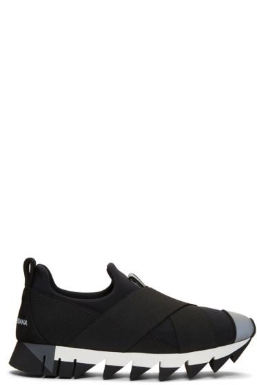Dolce & Gabbana - Black Ibiza Slip-On Sneakers