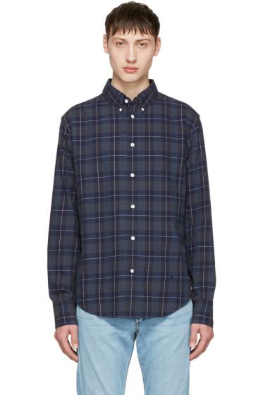 Rag & Bone - Navy Checked Tomlin Shirt