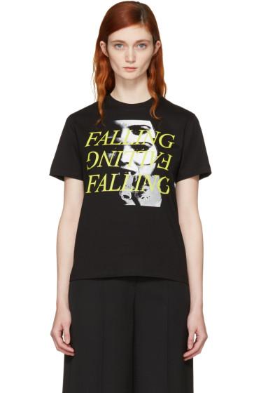 McQ Alexander McQueen - Black 'Falling' T-Shirt