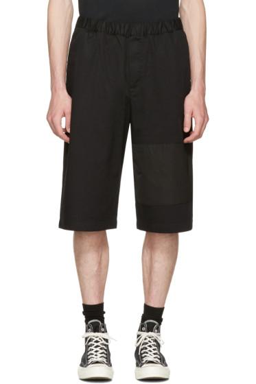 McQ Alexander McQueen - Black Panelled Chino Shorts