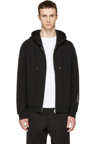 McQ Alexander McQueen - Black Inside Out Zip Hoodie