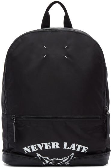 Maison Margiela - Black Nylon 'Never Late' Backpack