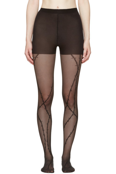 Alexander Wang - Black Barbed Wire Stockings