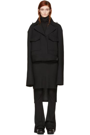 MM6 Maison Margiela - Black Oversized Jacket