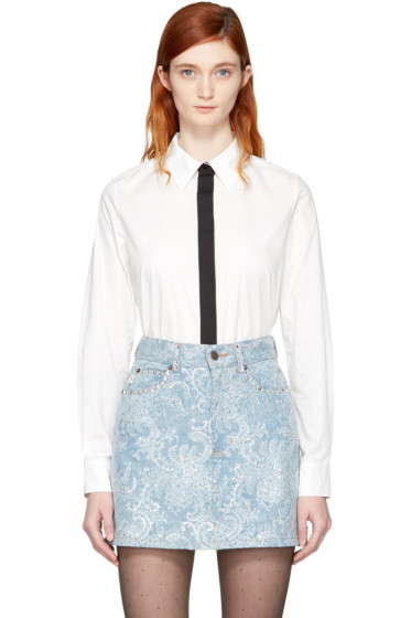 Marc Jacobs - White Faux Tie Shirt