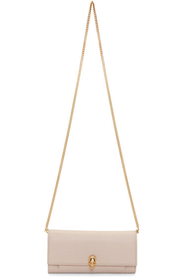 Alexander McQueen - Pink Lino Skull Wallet Bag