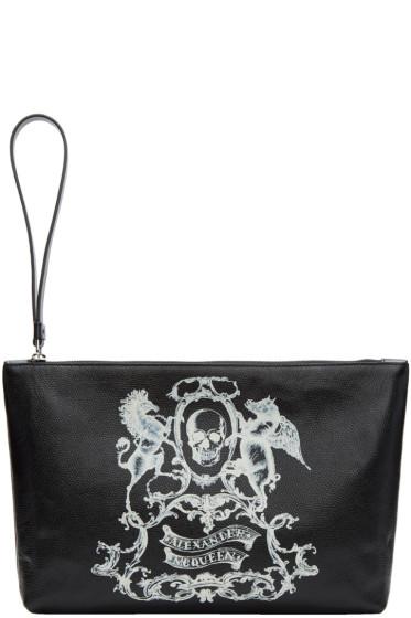 Alexander McQueen - Black Medium 'Coat of Arms' Pouch
