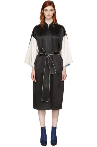Opening Ceremony - Reversible Black Silk Kimono Robe Coat