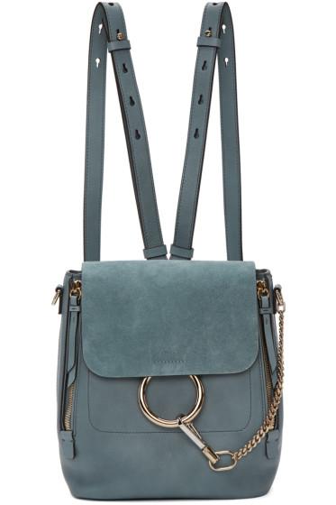 Chloé - Blue Small Faye Backpack