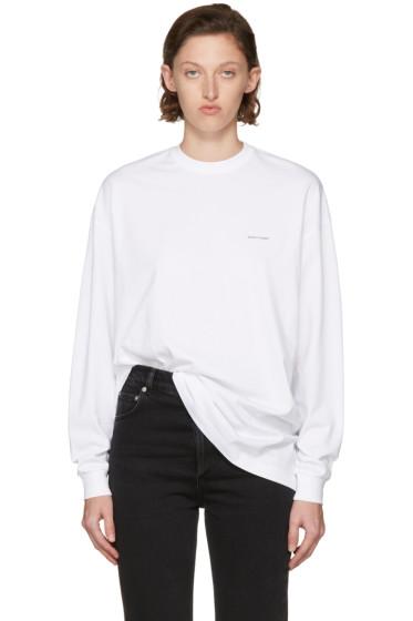 Balenciaga - White Long Sleeve Logo T-Shirt