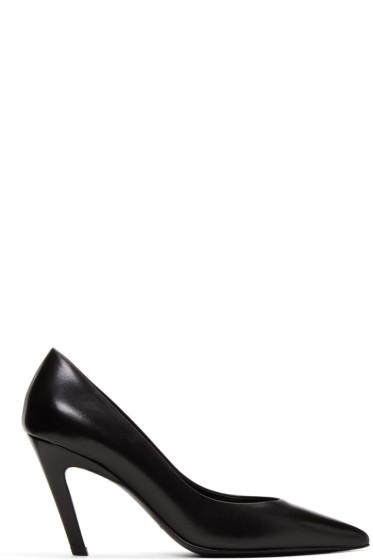 Balenciaga - Black 'Slash Heel' Heels