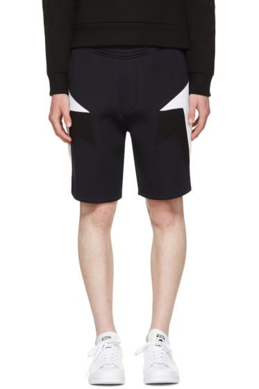 Neil Barrett - Navy Tricolor Modernist Shorts