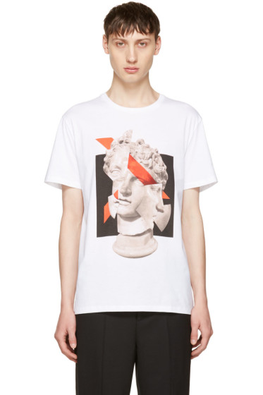 Neil Barrett - White Geometric Sculpture T-Shirt