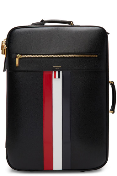 Thom Browne - Black Check-In Wheeled Soft Suitcase