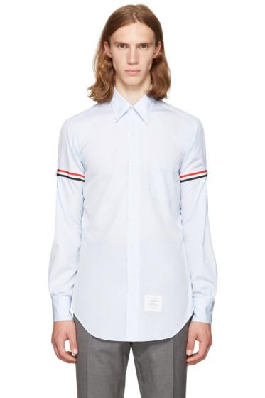 Thom Browne - Blue Classic Grosgrain Armband Shirt