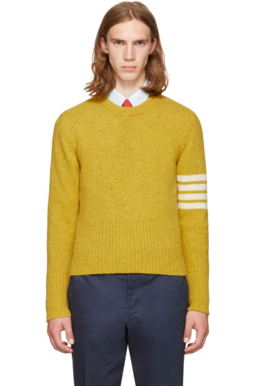 Thom Browne - Yellow Classic Mohair Crewneck Pullover