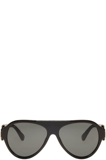 Versace - Black Rock Icons Medusa Pilot Sunglasses