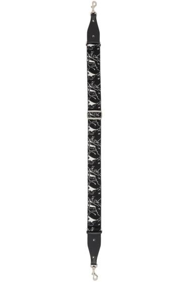 Valentino - Black & Ivory Panther Guitar Shoulder Strap