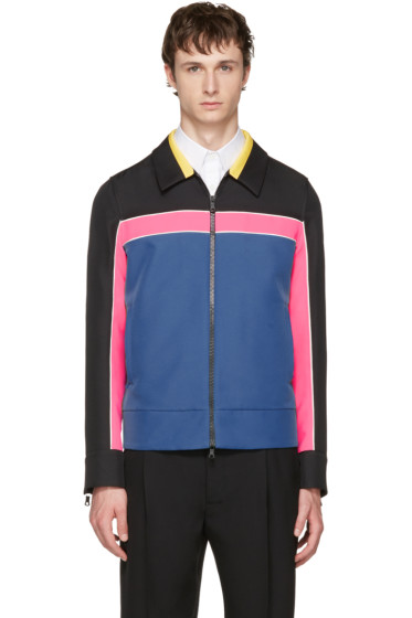 Valentino - Multicolor Colorblocked Zip-Up Jacket