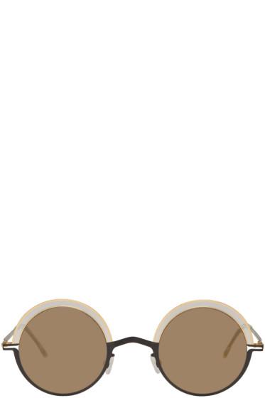 Mykita - Black & Gold Bueno Sunglasses