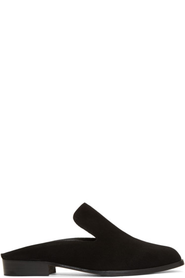 Robert Clergerie - Black Suede Alice Slip-On Loafers