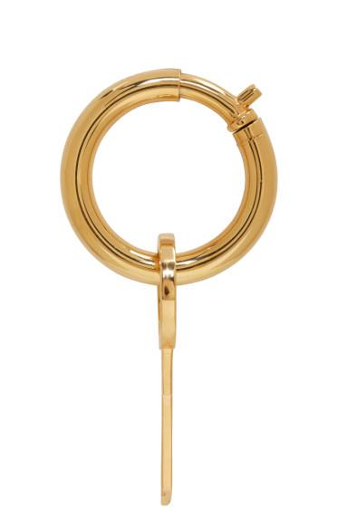 Ambush - Gold Single Mini Key Earring