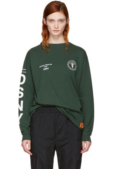 Heron Preston - Green DSNY Edition Long Sleeve 'Uniform' T-Shirt