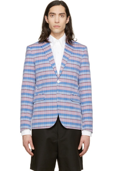 Dsquared2 - Tri-Color Check Andy Blazer