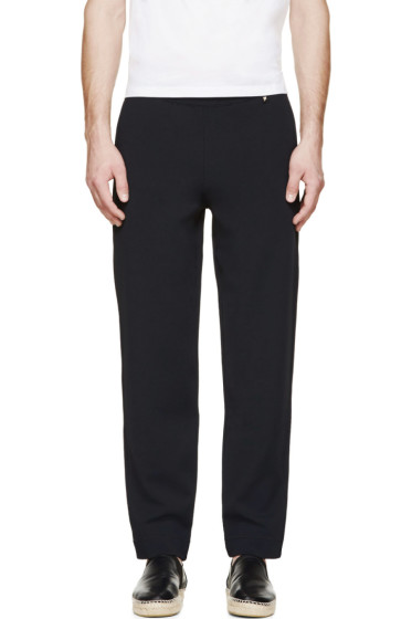 Valentino - Navy Blue Slouched Lounge Pants