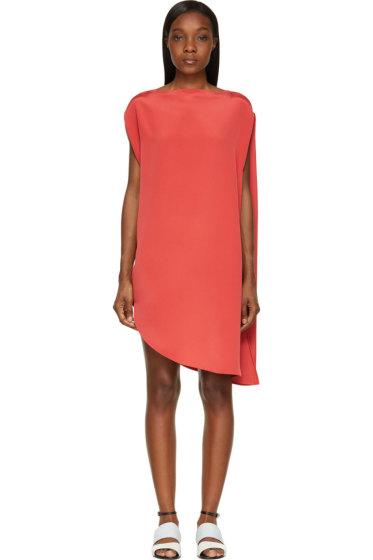 Calvin Klein Collection - Strawberry Sleeveless Circular Drape Tamara Dress