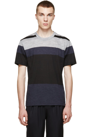 Paul Smith - Navy & Grey Colorblock T-Shirt