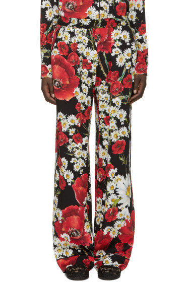 Dolce & Gabbana - Red Floral Lounge Pants