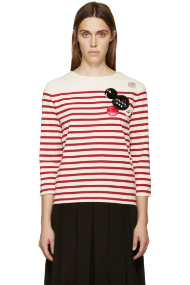 Marc by Marc Jacobs - White & Red Breton Striped Crewneck
