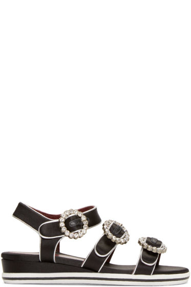 Marc by Marc Jacobs - Black & Silver Charlotte Sandals