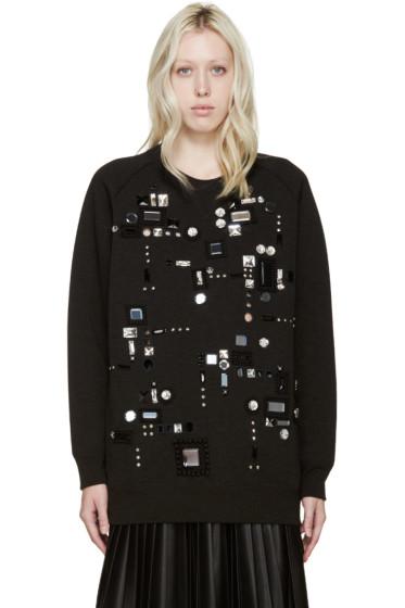 Marc Jacobs - Black Embellished Oversized Sweatshirt