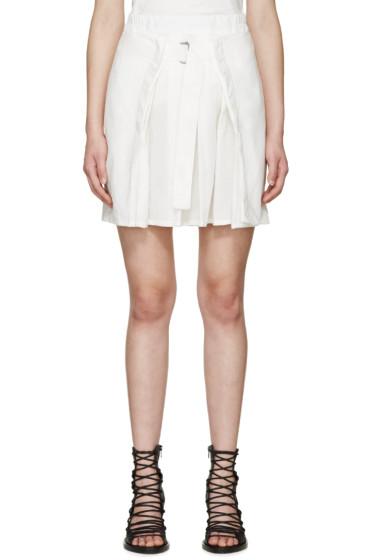 Ann Demeulemeester - White Pleated Joan Miniskirt