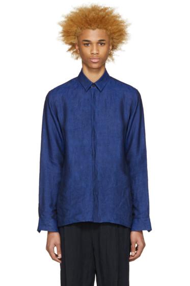 Haider Ackermann - Navy Linen Shirt