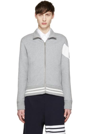 Moncler Gamme Bleu - Grey Zip-Up Sweater