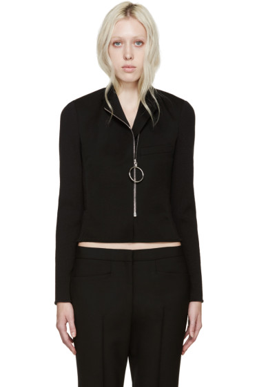 Paco Rabanne - Black Rib Knit Jacket