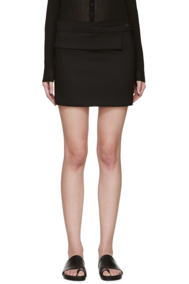 Paco Rabanne - Black Wool Mini Skirt
