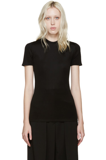 Paco Rabanne - Black Open-Back T-Shirt
