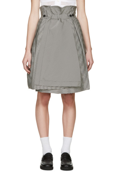 Jil Sander Navy - Black & White Striped Skirt