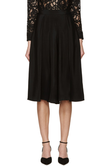 Erdem - Black Silk Kiana Culottes