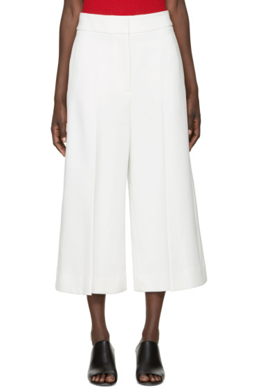 Rosetta Getty - Ivory Structured Culottes